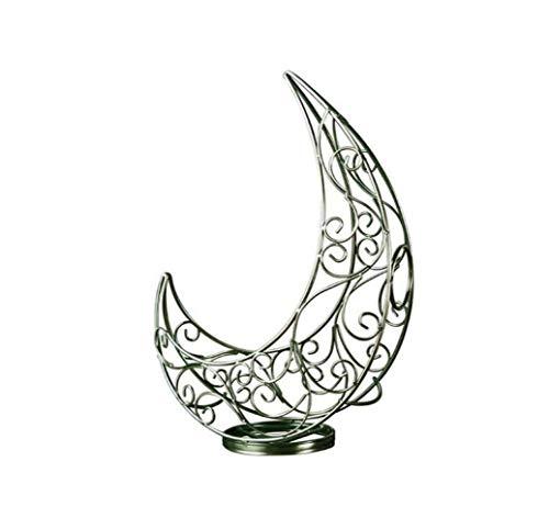 QHY Weinregal Mode Mond Design Metall Desktop Weinflaschenregal Unabhängige Weinregal Lagerregal Barock,Bronze,A