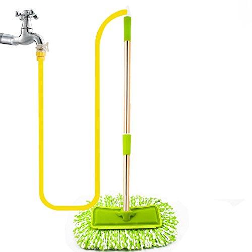 GAOJIAN Autowasch-Mop Aluminium-Legierung Griff Auto Wasch-Tool lange Griff Teleskop-weichen Pelz Durch die Wasser-Rohr Auto Waschbürste