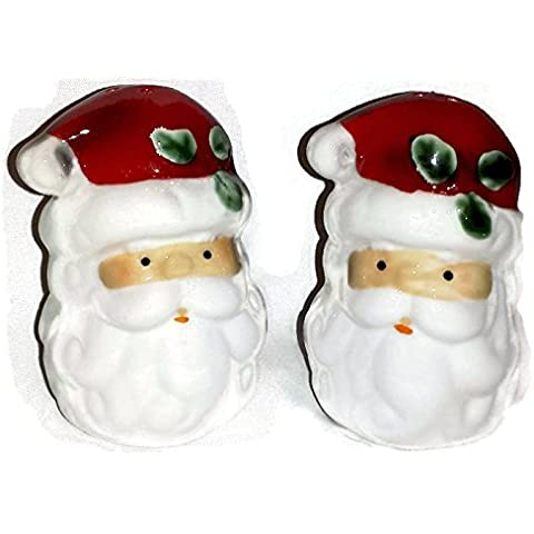 Fun Santa Claus Salt and Pepper Shaker Set for Christmas and Winter Holiday Time by Housewares