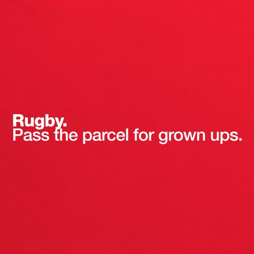 Rugby - Pass The Parcel T-Shirt, Damen Rot