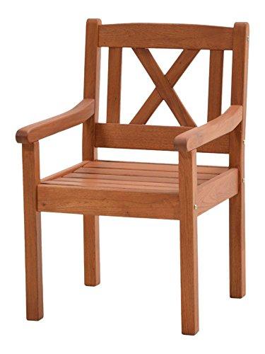 Ploß Landhaussessel Lissabon aus Robinie - Garten-Sessel in Braun - Gartensessel mit Armlehne für...