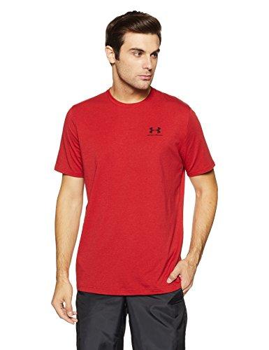 Under Armour Men's Plain Loose Fit T-Shirt (1257616-621_Rapture Red_Medium)