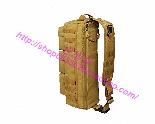 Outdoor reisen Bergsteigen Tasche wandern Camping oblique span Taschen 20 L Rucksack 51 * 19 * 22 cm, drei sand Camouflage Schlamm Farbe