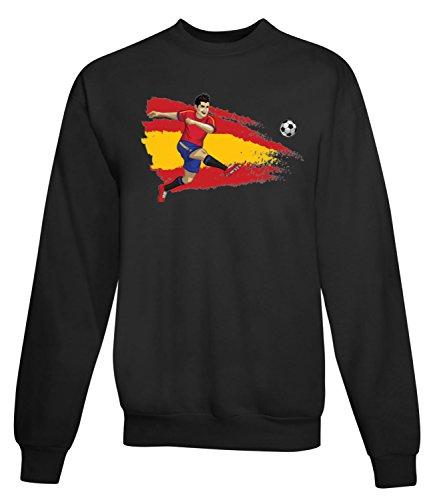 Billion Group | Football Illustration | Sport Series | Women's Unisex Sweatshirt Noir