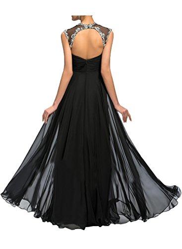 Gorgeous Bride Fashion V-Ausschnitte Lang Chiffon Tüll Schlitze A-Linie Abendkleider Lang Cocktailkleider Ballkleider Olive