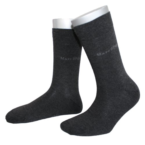 Marc O'Polo Damen Socken 731138222 Roma Basic Söckchen Women 2er Pack, Gr. 35-38, Grau (anthracite) -