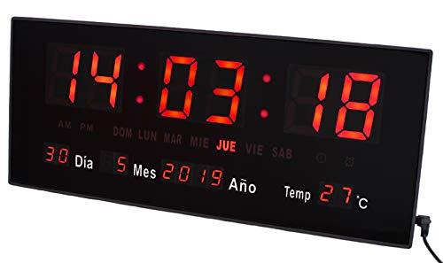 JeVx Reloj Digital Pared Sobremesa Mediano Pie Apoyo
