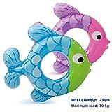Newin Star Kinder Schwimmring, Aufblasbarer Unterarm Schwimmring Fisch Pool Float Ring mit Schnellventile Pool Party Dekorationen Spielzeug für Kinder (Blau)