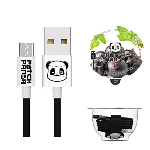 Micro-USB-Kabel, Jelly Panda Micro-USB-Datenkabel und Ladekabel für Samsung Galaxy, Samsung Note, Nexus, LG, Sony, HTC, Motorola, Kindle, Nokia, Xiaomi, MP3-Player, PS4 und vieles mehr Htc Panda