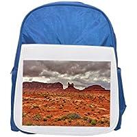 Monument Valley, kayenta, Arizona, Estados Unidos Printed Kid 's Blue Backpack, Cute de mochilas, Cute Small de mochilas, Cute Black Backpack, Cool Black Backpack, Fashion de mochilas, large Fashion de mochilas, Black FA