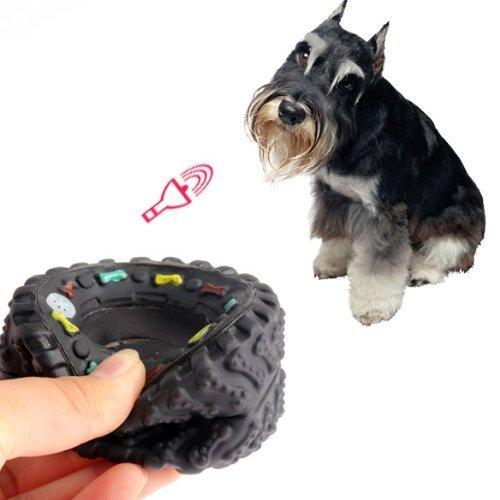 Ogquaton Il cane mastica i giocattoli cigolanti Battistrada pneumatici Giocattolo duro Cucciolo di animale domestico Gomma dura da indossare Conveniente e pratico
