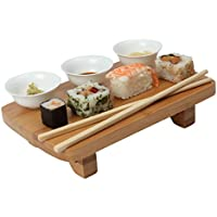Dexam Bamboo Sushi Serving Kit Set, including