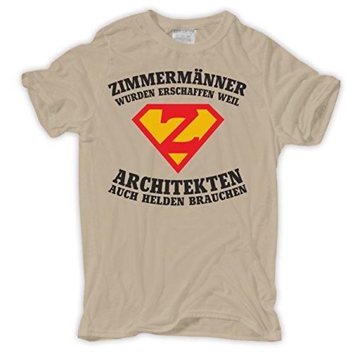 Männer und Herren T-Shirt ZIMMERMÄNNER wurden erschaffen Sand