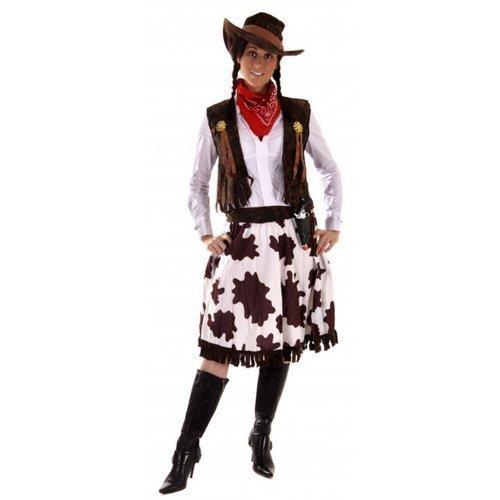 r Westen Jessie Cowgirl Cowboy Sheriff Kostüm Kleid Outfit STD &Übergröße - Multi, Plus (UK 16-20) (Jessie Kostüm Für Erwachsene)