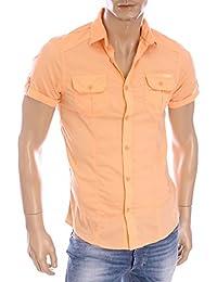 chemise manches courtes kaporal 5 farc orange