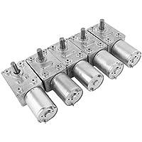 Homyl 4pcs Hochdrehmoment Turbo Schnecke Getriebe Gleichstrommotor Geschwindigkeitsreduzierung Elektromotor