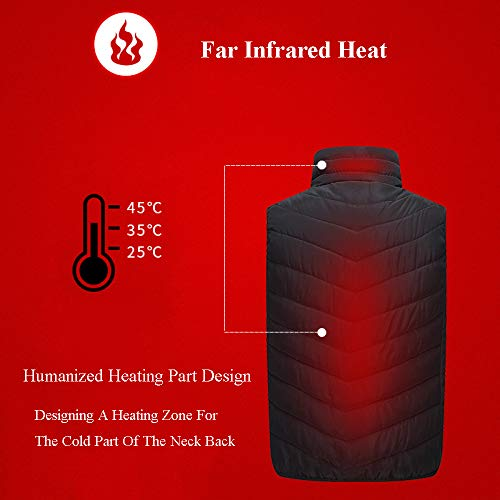 41DK7mu3RoL. SS500  - DZX Winter Heating Vest/Warm Clothing Electric Jacket,USB Heating-For Camping, Hiking, Skiing And Ice Skating,S