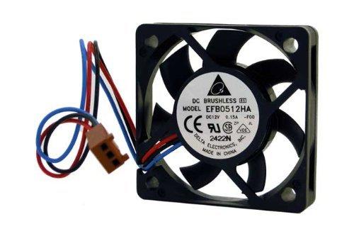 EFB0512HA 50mm x 10mm 3 Pin DC 12V Brushless PC CPU Gehäuse-Lüfter Kühl