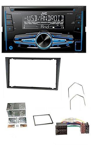 Und Combo Lautsprecher Auto Subwoofer (caraudio24 JVC KW-R520 MP3 USB CD 2DIN AUX Autoradio für Opel Combo C Corsa C Tigra Meriva 00-04 metallic)