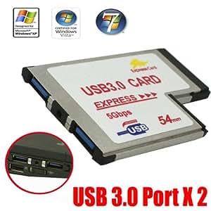 expresscard 54 f r usb 3 0 adapter mit bis zu 5 computer zubeh r. Black Bedroom Furniture Sets. Home Design Ideas