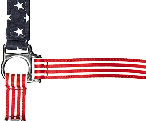 HKM Nylonhalfter -Flags- mit Karabinerhaken, Flag USA, Vollblut