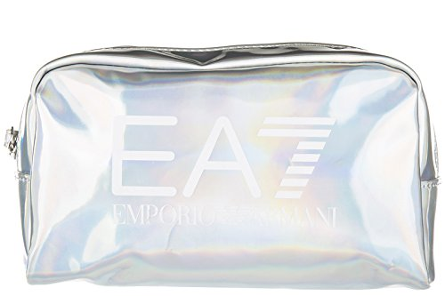 Emporio Armani EA7 beauty case viaggio porta trucchi donna train gym lux argento