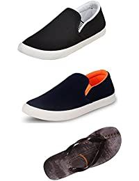 Maddy Perfect Combo Pack Of 2 Shoes & Slippers For Men In Various Sizes