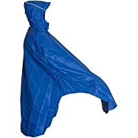 LOWLAND OUTDOOR® Poncho Impermeable con Capucha Chupusquero para Ciclista Transpirable, Chubasquero 100% Resistente a la Agua (7000 mm) 255 gramos