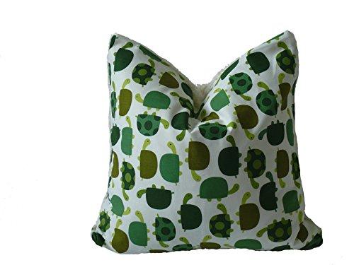 Preisvergleich Produktbild Fitzibiz Kinderkissenbezug Paul, Öko-Teddy, Schildkrötendruck, weiß, bunt 50x50cm auch in anderen Größen verfügbar
