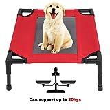 Homgrace Cama para mascotas elevada y aireada para perros y gatos (S:61*46*18cm, Capacidad de carga: 30kg)