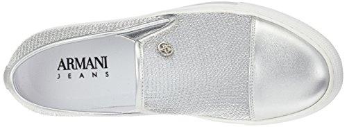 Armani 9251957p583, Zapatilla Basse Donna White (argento)