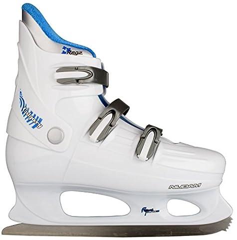 Schreuders Sport Nijdam Galgary Hardboot Figure Skate, Polyester - White/Silver/Cobalt blue, 41