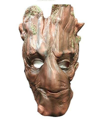 Groot GUARDIANS OF THE GALAXY MARVEL - Halloween Latex Cosplay Kopfmaske - Universalgröße Karneval Cosplay