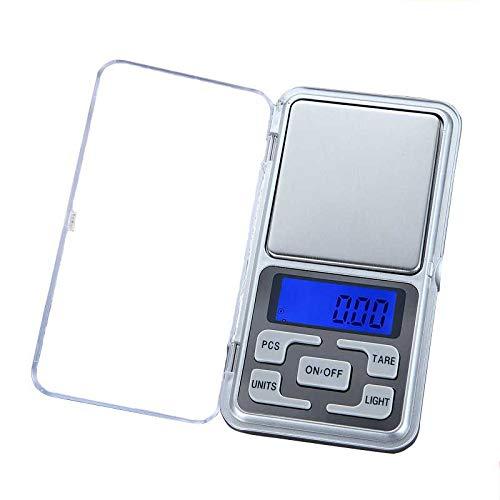 ZHANGYUGE Báscula de Cocina electrónica LCD Digital Pocket Escala balanza portátil pesaje de precisión Herramienta de Cocina,100G(0.01G)