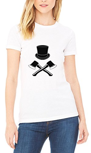 Hat Axes Death Sign Women's T-shirt Blanc