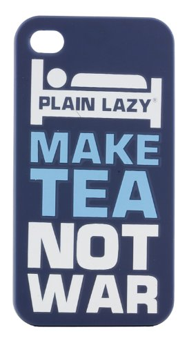 Plain Lazy-Cover per BlackBerry 9360, colore: nero Make Tea Not War
