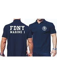 """'Polo Marina, """"Marino 1–Manhattan Bomberos de Nueva York azul marino azul marino Talla:large"""