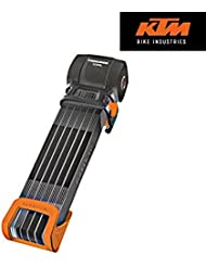 KTM by Trelock Faltschloss Sicherheitsstufe 4 in Schwarz mit Halter K-4428901 BISOMO®