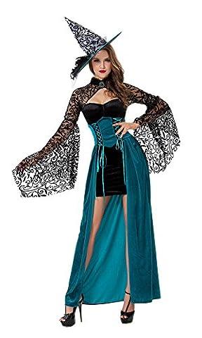 lifewheel Halloween Sorcière Chapeau de sorcière robe Masquerade Vêtements Costumes Jeu et