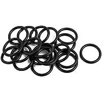 sourcingmap 20 St/ücke flexibel Gummi O Ring /Öl Dichtschieb Dichtung 22mm x 2.4mm schwarz de de