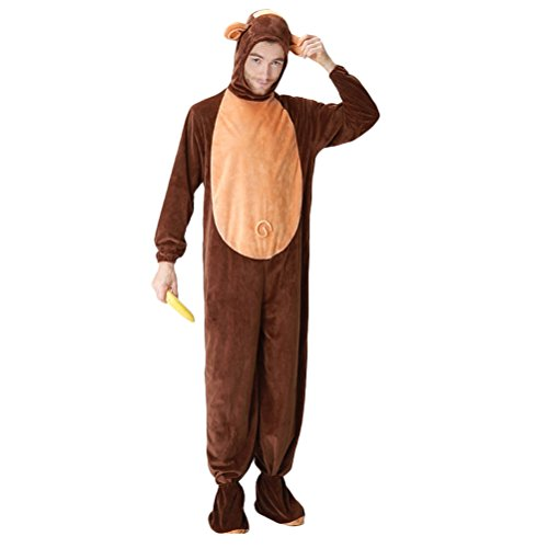 eid Adults Mens Halloween Christmas Cosplay Costume Monkey Conjoined Fancy Party Dress Costume Outfit (Teen Hai Kostümen)