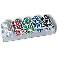didatta giochi moneda de plexiglás 100 fichas de poker/fichas de poker