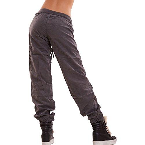 Toocool - Pantaloni donna funky vita bassa sportivi hip hop casual sport nuovi JS-7715 Grigio