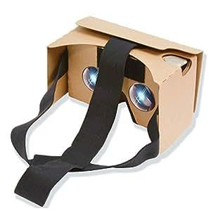 Google Cardboard kit V2.0 , Potok Google cartone V2.0 Occhiali 3D Virtual Reality Kit fai da te 3D realtà virtuale compatibile con Android & APPLE, più confortevole e più chiara (giallo)