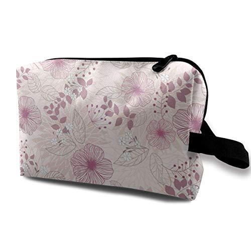 Flower Art Kosmetiktaschen Make-up Veranstalter Tasche Reißverschluss Geldbörse Handtasche Clutch Bag -