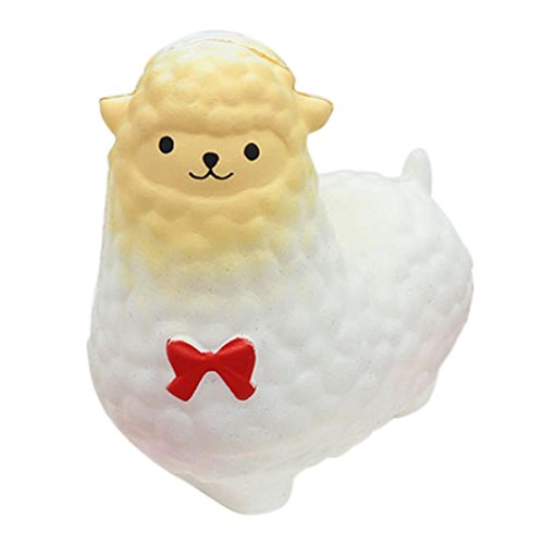 VENMO Jumbo Schaf Squishy Niedlicher Alpaka Galaxie Superlangsamer steigender Spaß Tierspielzeug Spielzeug Simulation Langsam Duftende Anti Stress Relief Relieve Druck Kinder Toy Hauptdekoration (white)