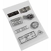 Bobury Sellos transparentes de silicona de PVC para DIY Scrapbooking Stamp Stamp