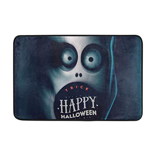 ZHIZIQIU PLAO Doormat Happy Halloween Outdoor Mats, Non Slip Door Mat for Entrance Way Front Door Inside Outside 23.6