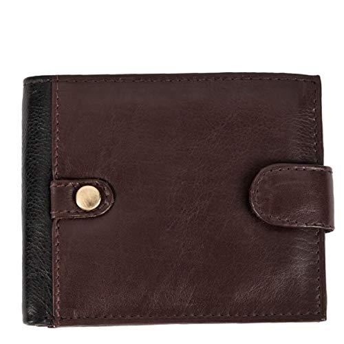 Eastern Counties Leather - Portefeuille Olivier en cuir - Homme (Taille unique) (Marron/Noir)