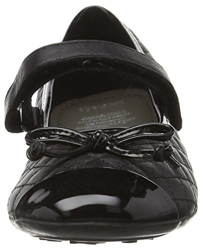 Geox Jr Plie' L, Ballerines Fille Schwarz (BLACKC9999)